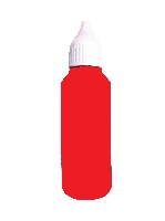50 ml. Inkt rood